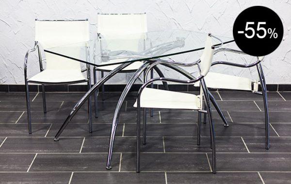 Mesa acero inox blanca